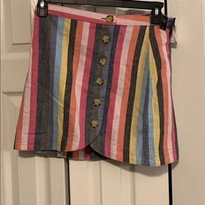 Abercrombie and Fitch Rainbow Stripe Skirt